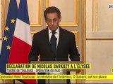 """Nicolas Sarkozy : """"Tout est mis en oeuvre pour que le suspect soit arrêté"""""""