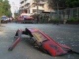 Bangkok : images après l'explosion