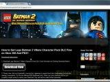 How to Get Lego Batman 2 Villans Character Pack DLC Free!!