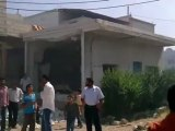 Syria فري برس  درعا حوران إنخل  دمار نتجة المجزرة 27 6 2012 ج5 Daraa