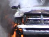 Truck Fire Fully Engulfed  Trans Canada Highway near Moncton