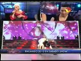 Valeria Archimó y Reynaldo Ojeda  bailando reggaeton
