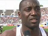 itw Ladji Doucouré après son élimination en demi-finale du 110m haies, ChE 2012