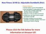 New Fitness 10-90 Lb. Adjustable Dumbbells (Pair)