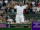 Wimbledon - Tsonga se hisse en demi-finale (bis)