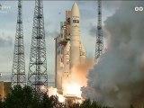 Décollage d'Ariane 5, vol 207, le 5 juillet 2012