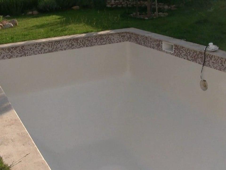 Incroyable Revêtement piscine peinture technique prix rénovation enduit YN-76