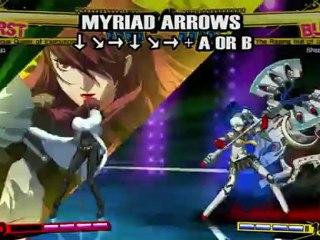 Gameplay Mitsuru de Persona 4 Arena