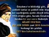 Mehmet Ali Kaya Hocamız'ın Yanılgısı! Üstadımız Bir Asır Sonra Dediğinde 1977 Yılından Değil, 2010 Yılından Bahsediyor!