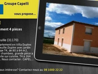 Vente - Appartement 264 200€ -  Tournefeuille (31170)