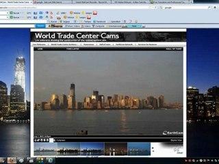 Webcams registram ao vivo UFO sobre WTC em NYC.