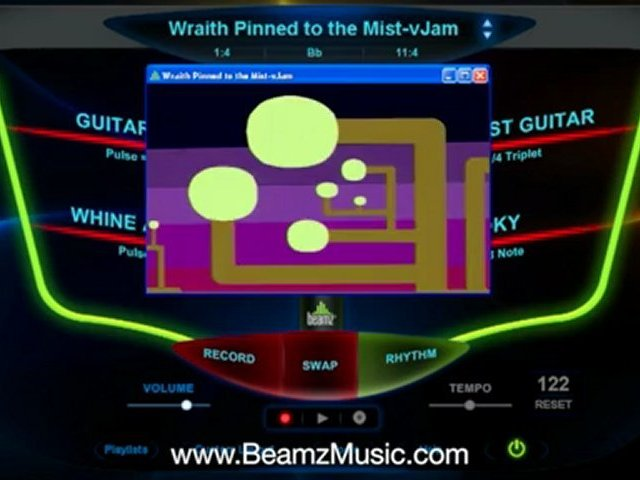 5 Beamz Music – Video Jam Songs Beamz Music Library PLAY A MUSICAL INSTRUMENT? INTERACT W MUSIC VIDEOS & JOIN THE BAND Lasers