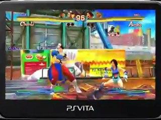 PS Vita Street Fighter Gameplay de Street Fighter X Tekken