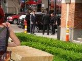 Tim Burton Unexpectedly Visits The Frankenweenie Exhibit at Comic-Con 2012