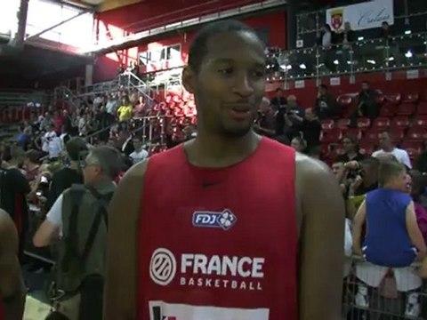 L'équipe de France de Basket à Calais
