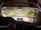 caméra embarquée 207 RC Jean Paul MONNIN Franck Gilliot rallye des vins de Macon es 1