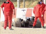 Barcelona 2005 Kimi Räikkönen Test Crash