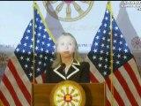 Clinton US Press Conference in Phnom Penh Cambodia