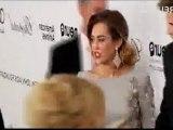 Miley Cyrus & Liam Hemsworth - Elton John AIDS Oscar Party