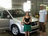 Happy Clients loving their new Dodge Grand Caravan Crew from Landry Auto Chrysler Laval
