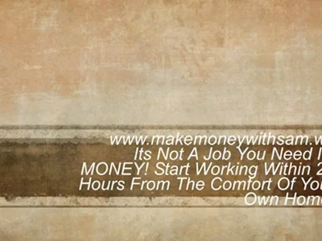 Opportunity Of A LifeTime! Earn Extra Money, Working From Home!. Working From Home Opportunity.