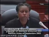 11 sept - Cynthia McKinney questionne Rumsfeld