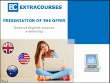 Presentation of the language platform of EXTRACOURSES - English courses through elearning