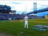 David No Way Burlet how to do crazy baseball bat skills between innings games promotion