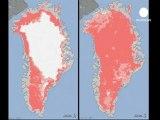 Dégel inattendu de la surface gelée du Groenland