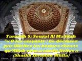 """Tarawih 5 : Sourat Al Ma'idah  """"O les croyants  ne déclarez pas illicites les bonnes choses qu'Allah vous a rendu licites""""  {Cheikh Ibrahim Mulla}"""