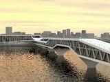 Projet architectural : Pont Héron à Saint-Sébatien-sur-Loire près de Nantes, par J. Eymard, P. Jaquet, M. Le Voyer.