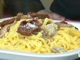 Cuisine :  Les pâtes aux tomates séchées et aux champignons