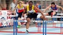Finale 110 m haies Cadets (record du monde de Wilhem Belocian)