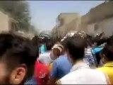 Syria فري برس حماه المحتلة حي كازو مظاهرة في جمعة رمضان النصر سيكتب في دمشق 1 رمضان   20 7 2012 ج2 Hama