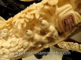 Mammoth Ivory Handcrafted Chinese Happy Kids Scenery Tusk Carving (37543)