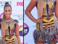 Selena Gomez Taylor Swift Demi Lovato Nina Dobrev STUN at the 2012 Teen Choice Awards