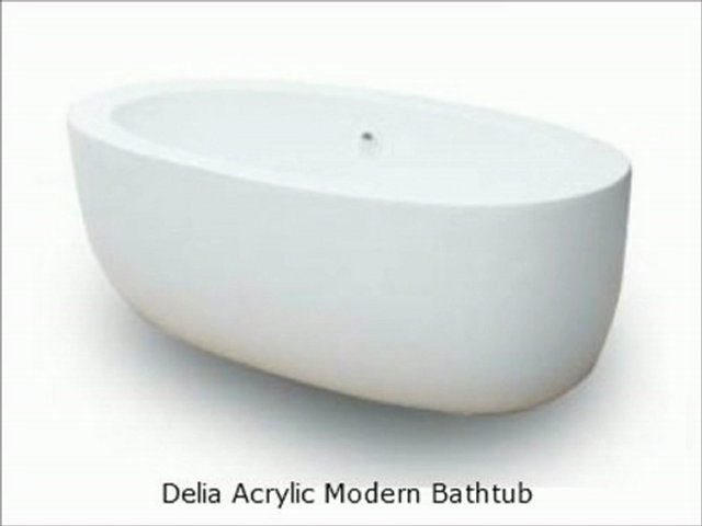 The Interior Gallery Showcases Its Modern Acrylic Bathtubs