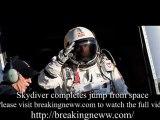 Skydiver Felix Baumgartner Completes 18 Mile Jump