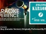 Amazing Karaoke - Lonely Boy (Karaoke Version) - Originally Performed By Paul Anka