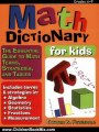 Children Book Review: Math Dictionary for Kids: The Essential Guide to Math Terms, Strategies, and Tables (Grades 4-9) by Theresa Fitzgerald