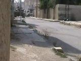 Syria فري برس درعا المحطة اشتباكات بمخفر المخيم 27 7 2012 ج4 Daraa