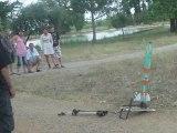 Fusées à eau et à poudre