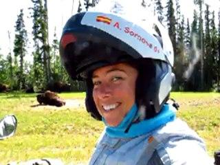 Saludo de Alicia Sornosa a Masmoto.net en su vuelta al mundo en moto