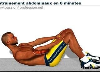 Abdos en 8 minutes, entrainements pour abdos en tablettes