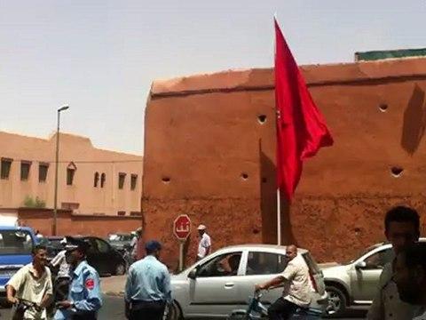 محاولة انتحار امام الاقامة الملكية بمراكش