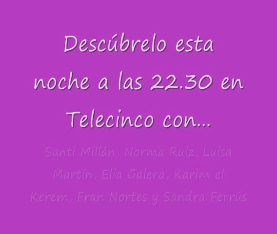 Estreno de Frágiles en Telecinco