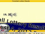 Powerball Lottery Drawing Results for August 4, 2012