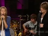 Miley Cyrus _ Billy Ray Cyrus-Butterfly Fly Away (LIVE AOL Sessions)
