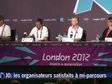 JO: satisfecit des organisateurs à mi-parcours des Jeux