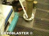 Nettoyage banc d'essai moteur: CRYOBLASTER